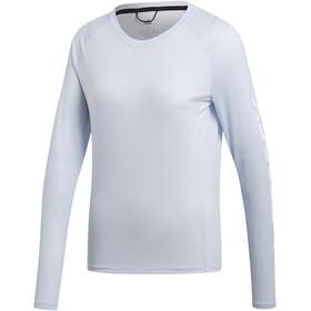 adidas TERREX TrailCros LS Shirt Damen aero blue/white